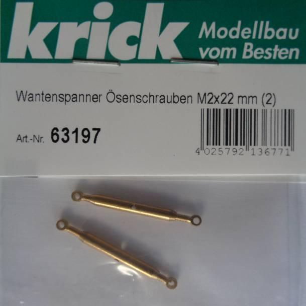 Wantenspanner mit Ösenschrauben M2x22 mm, 2 Stück