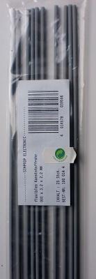 flex.Kunststoffrohr f. Rudergestänge, 2,2 mm innen, 1  Stück