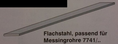 Flachstahl, (passend f.Messingr.)