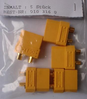 Powerverbinder XT90 Buchse mit  3,5 mm Goldkontakten