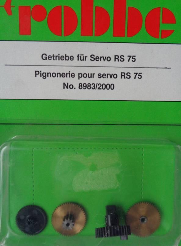 Geriebe für Servo RS 75