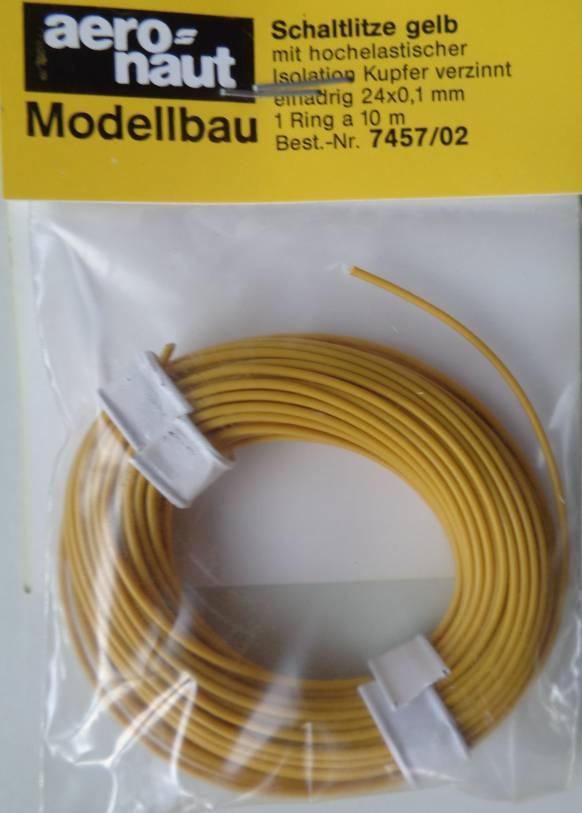 LITZE gelb 10 m, einadrig 24 x 0,1 mm