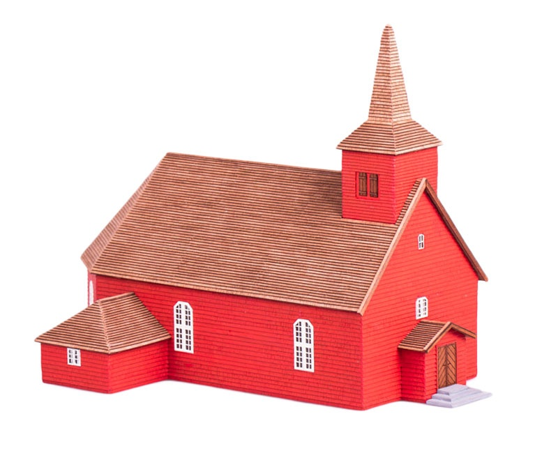 Älgaras Holzkirche   - Bausatz -  , Länge 27 cm