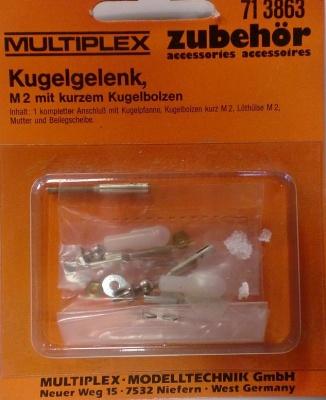 Augenschraube M4, Alu,  6 Stück