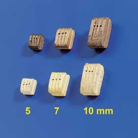 Dreifachblöcke 5mm (10 Stück)