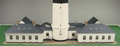 Gebäude Leuchtturm Kampen Laser Kartonbausatz