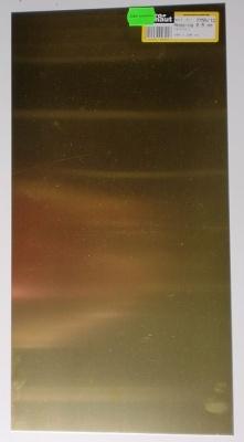 Messing-Blech 400x200x0.3 mm, halbhart, blank