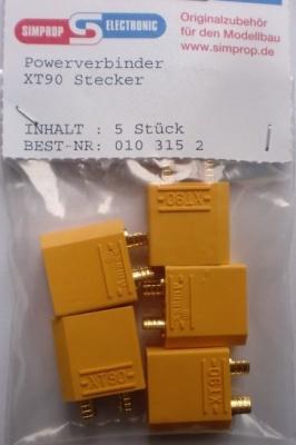 Powerverbinder XT90 Stecker mit  3,5 mm Goldkontakten