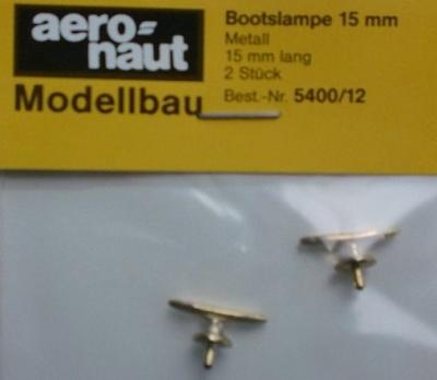 Bootsklampen, Metall brüniert 15 mm lang, 2 Stück