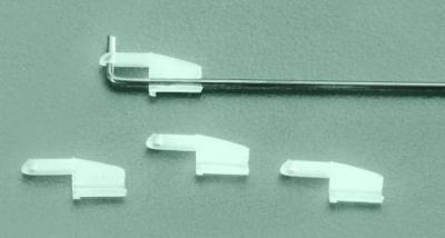 Kunststoff-Gestängeverriegelung für Draht-Ø 1,5 mm, 4 Stück