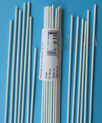 flex. Kunststoffrohr für Rudergestänge, 10 Stück