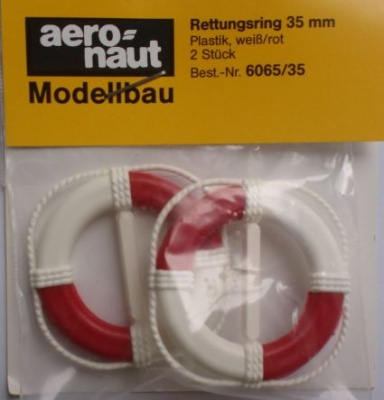 Rettungsringe Ø 35 mm,   weiß/rot