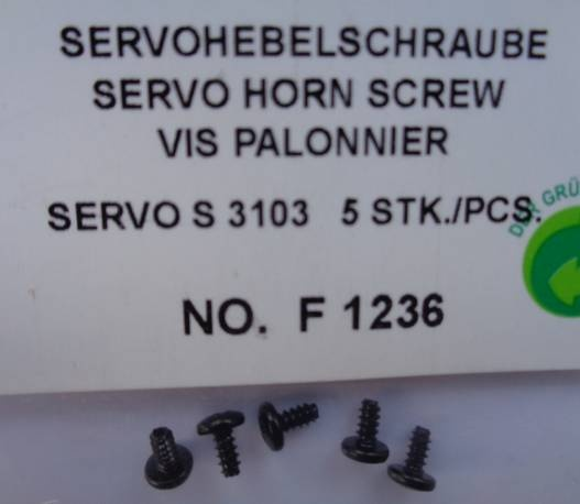 Servohebelschraube S 3103  5 Stück