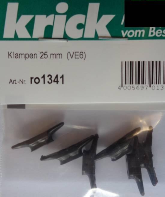 Klampen 25 mm  (VE6)