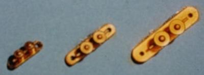 Doppelkreuzpoller, messing, 23 mm lang, 6 Stück