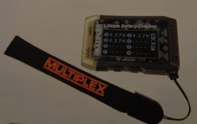 Multiplex Lithium Battery Checker u.Modellfinder