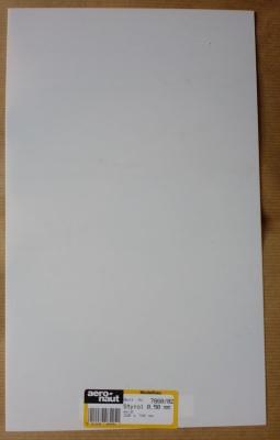 Styrol-Platten, weiß, Stärke 0,5 mm, 320 x 194 mm
