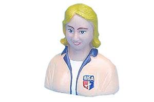 Pilotenbüste (Frau), 79 mm breit, 70 mm hoch