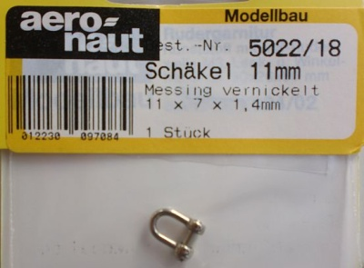 Schäkel Ms 11x7x1,4mm