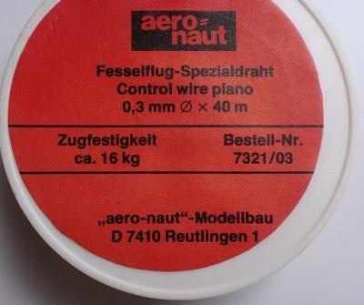 Fesselflugdraht  Ø  0,3 mm x 40 m