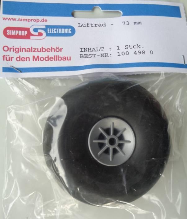 LUFTRAD mit Nylonfelge  73 mm, 1 Stück