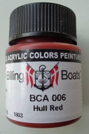 Rumpf rot 22 ml   Billing Boats Acryl Farbe