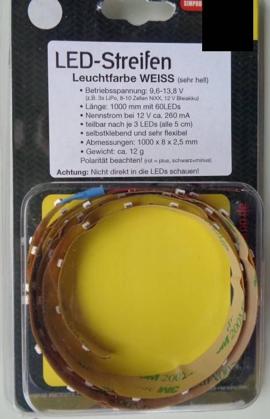 LED-Streifen - 100 cm - weiss