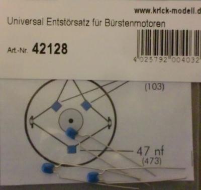 Universal Entstörsatz für Bürstenmotoren