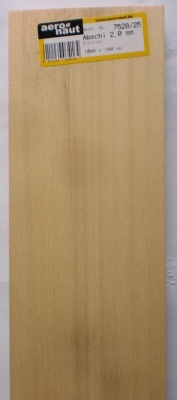 ABACHI,Furnier, 1000x100x1.5 mm, 10 Stück