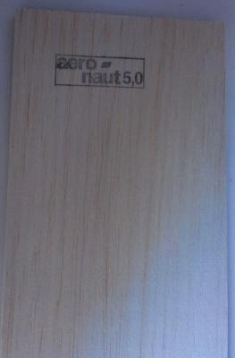 Balsabrettchen 5.0 mm stark, 10 cm breit, 1 m lang