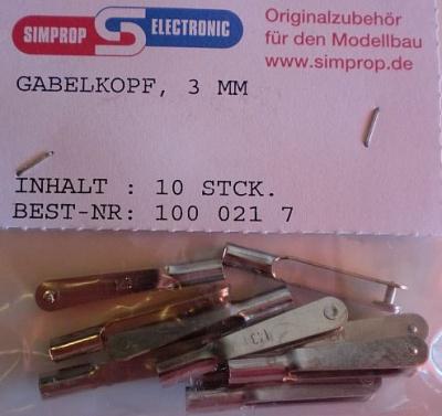 GABELKOPF VERZINNT 3 mm, 10 Stück