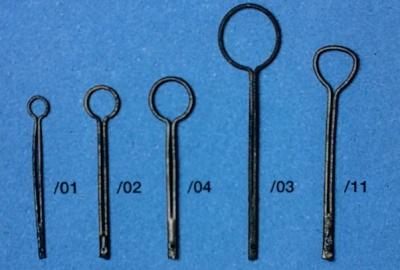 Pütting, Metall brüniert, für Juffern-Ø 10 - 12 mm, 10 Stück