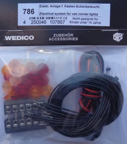 Wedico-Elektr. Anlage für Kasteneckenbeleuchtung