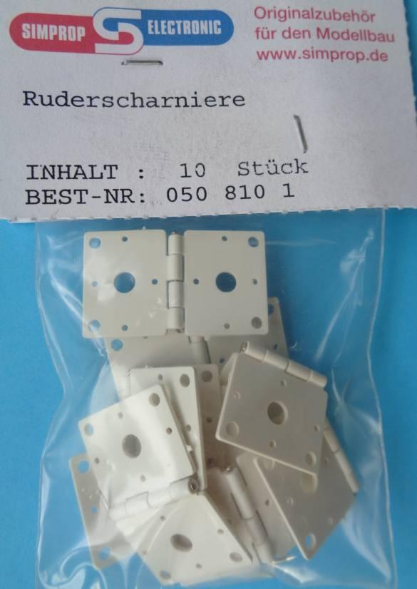 Kunststoff-Ruderscharnier 31 x 18 mm, 10 Stück