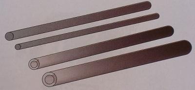 CfK-Rohr 1000x12/10mm