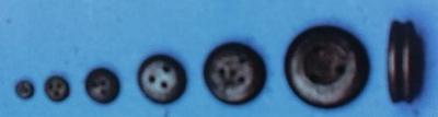 Juffern, Holz, dunkel,  2,5 mm, 20 Stück