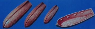 Ruderboote, Länge 70 mm, Breite20 mm, Kunststoff  (2 Stück)