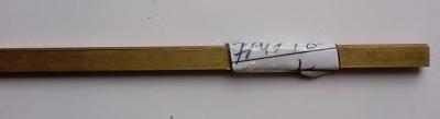 4-Kant-Messingrohr, rechteckig 11x2,2mm,Wandstärke0,45 mm