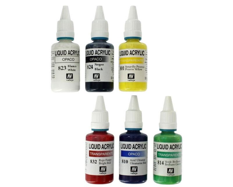 Farbset Acryl Farbe 6 x 32 ml