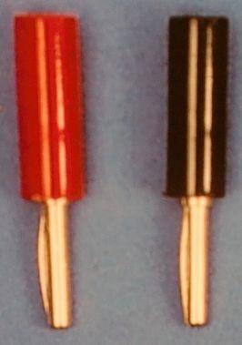 STECKER rot/schwarz, 1 Paar