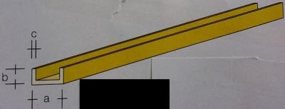 Messing-U-Profile 1x0,6,  1 m lang