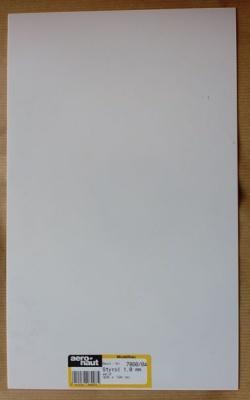 Styrol-Platten, weiß, Stärke 1,0 mm, 320 x 194 mm