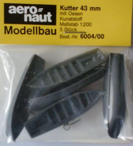 Kutter mit Ösen 43 mm lang, grau, 5 Stück