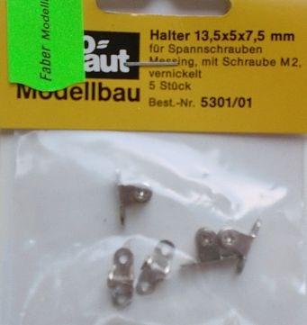 Halter für Spannschrauben 13 mm, m. Schr. M2