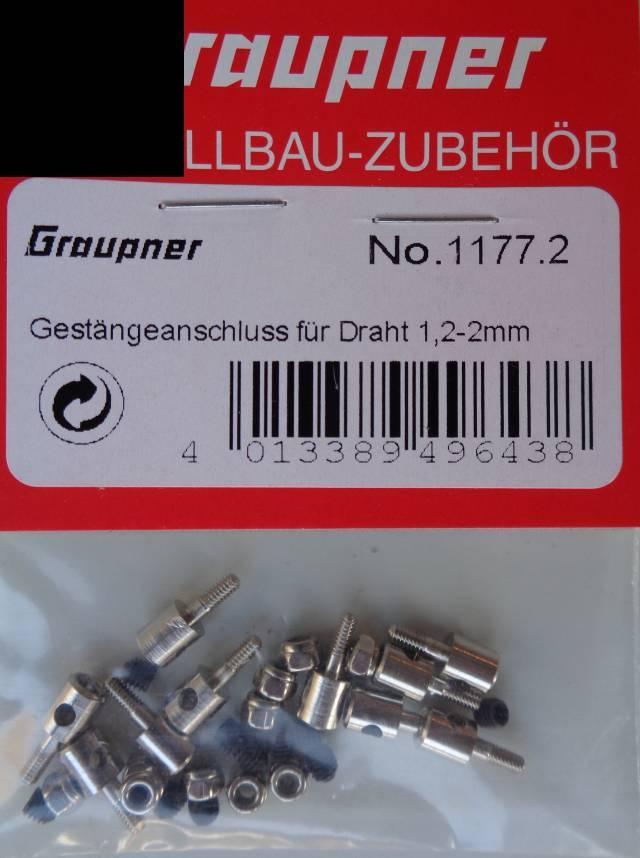 Gestängeanschluss für Draht-Ø ab 1,2 bis 2,0 mm, 1 x vorr.