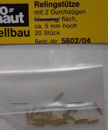 Relingstütze flach 2B/5mm