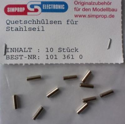 Quetschhülsen für Stahlseil, 10 Stück