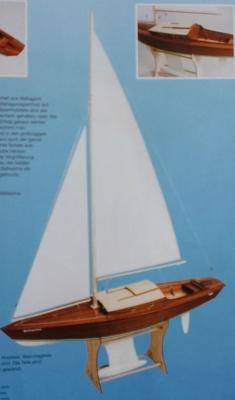 Bellissima Segelboot (Länge ca. 120 cm)