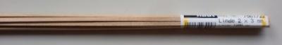 LINDE-Vierkantleisten  2 x 3 mm, 1 m lang, 10 Stück