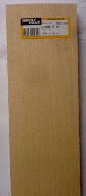 Linde-Furnier 1000x100x2,0 mm, 10 Stück